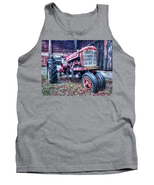 Old Farm Tractor Tank Top