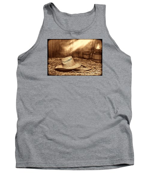 Old Farmer Hat And Rope Tank Top