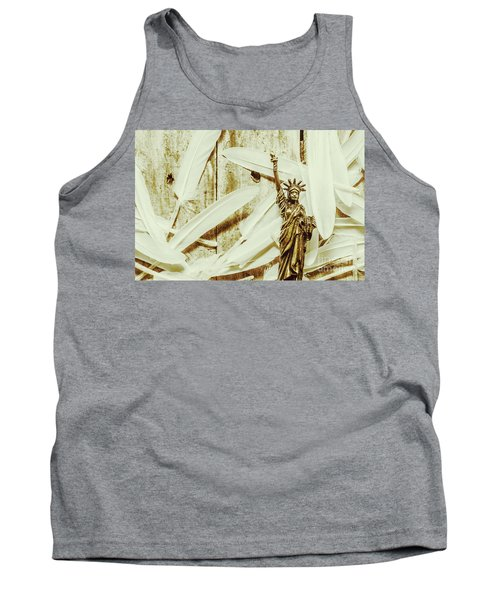 Old-fashioned Statue Of Liberty Monument Tank Top