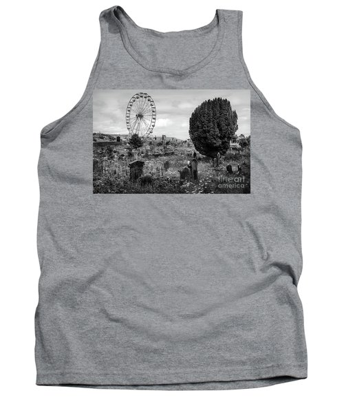 Old Glenarm Cemetery And Big Wheel Bw Tank Top by RicardMN Photography