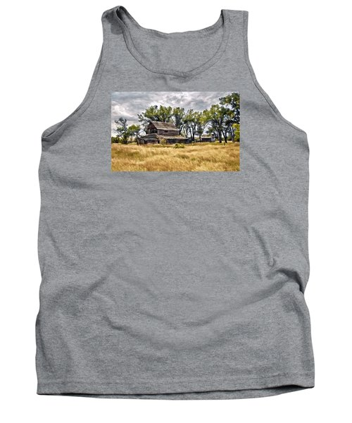 Old House And Barn Tank Top by James Steele