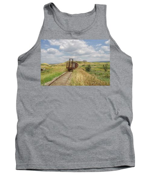 Jezre'el Valley Old Railway Station Tank Top by Uri Baruch