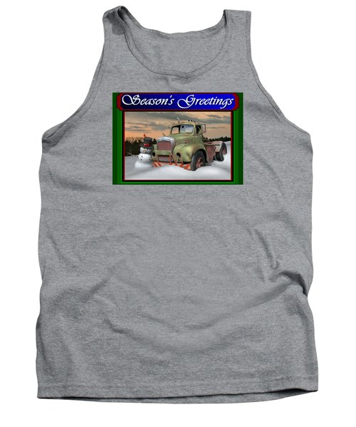 Tank Top featuring the digital art Old Mack Christmas Card by Stuart Swartz