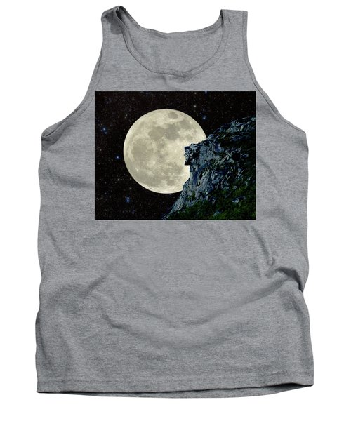 Tank Top featuring the photograph Old Man / Man In The Moon by Larry Landolfi
