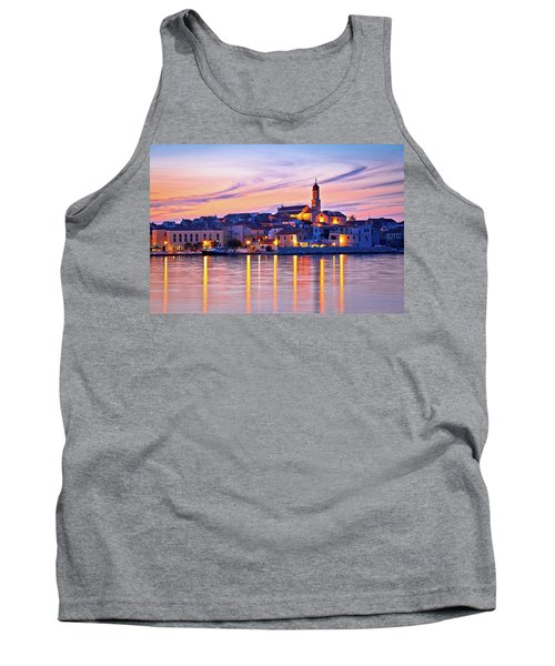 Old Mediterranean Town Of Betina Sunset View Tank Top by Brch Photography