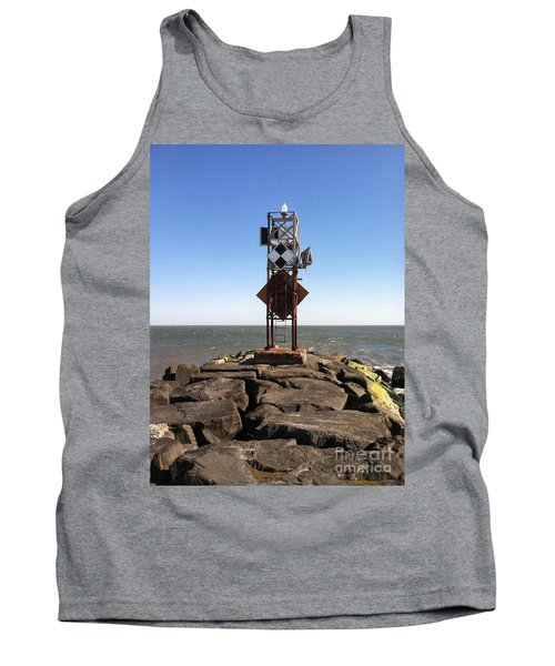 Old Ocmd Inlet Jetty Beacon And Foghorn Tank Top
