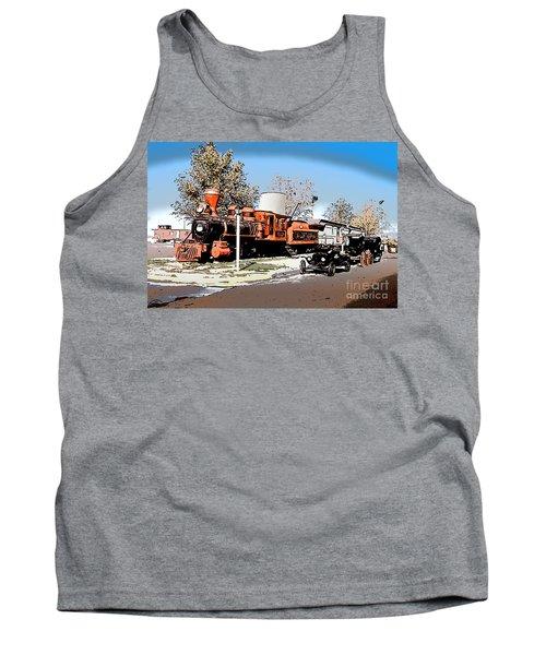 Old Pioneer Train Western Village Las Vegas Tank Top