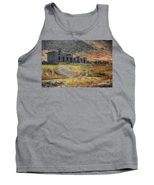 Tank Top featuring the photograph Old Ruin At Cwmorthin by Adrian Evans