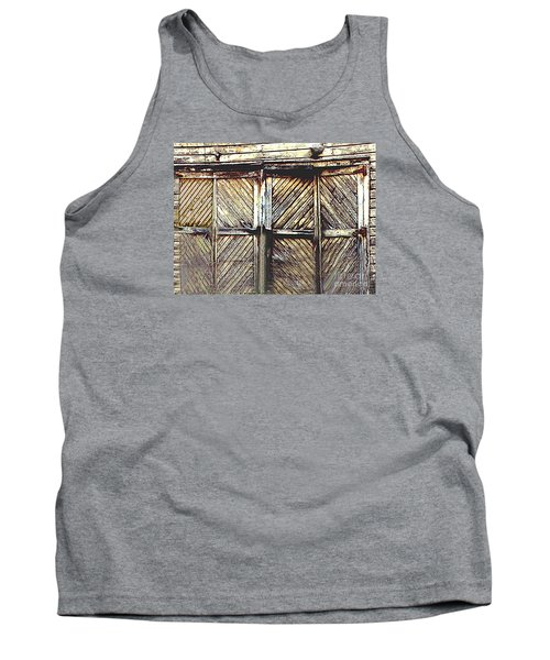 Old Rusted Barn Door Tank Top