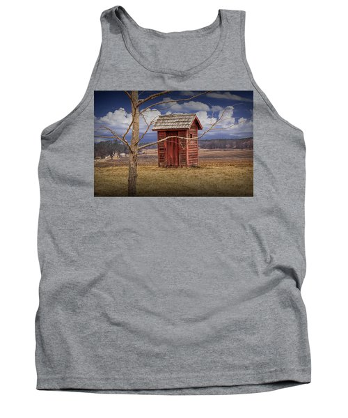 Old Rustic Wooden Outhouse In West Michigan Tank Top