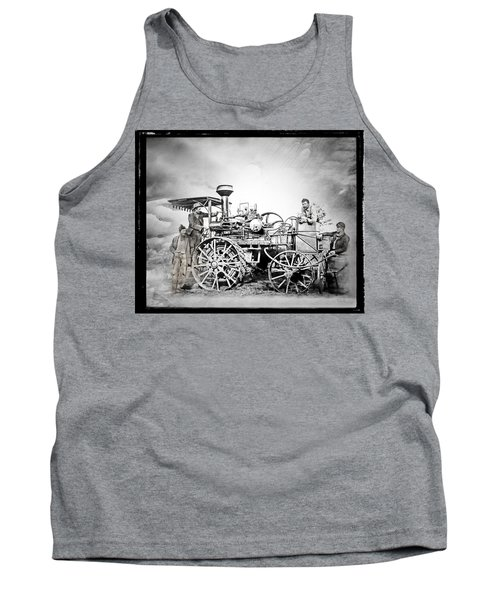 Old Steam Tractor Tank Top by Mark Allen