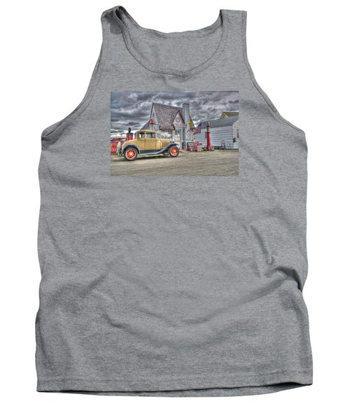 Old Time Gas Station Tank Top by Shelly Gunderson