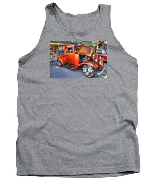 Old Timer Orange Truck Tank Top