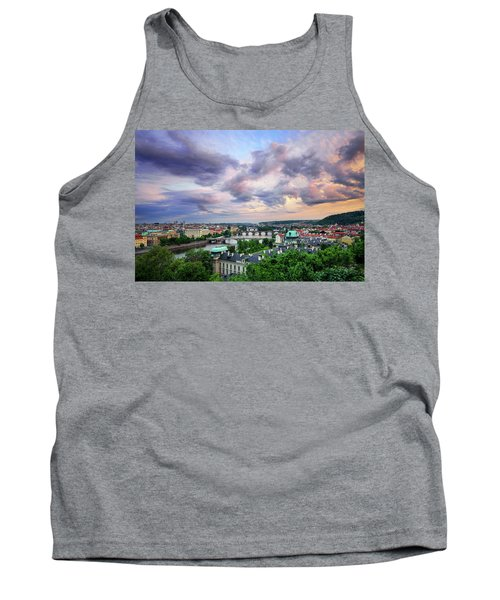Old Town And Charles Bridge, Prague, Czech Republic Tank Top