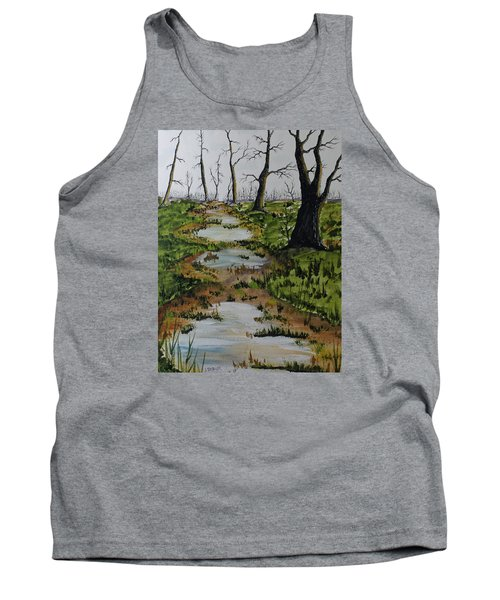 Old Walking Trail Tank Top by Jack G  Brauer
