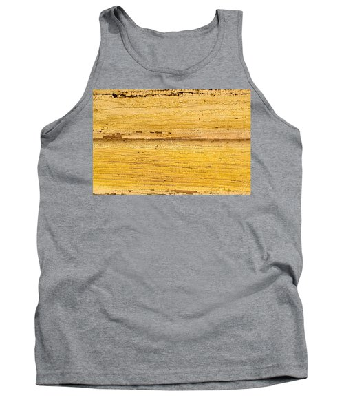 Tank Top featuring the photograph Old Yellow Paint On Wood by John Williams