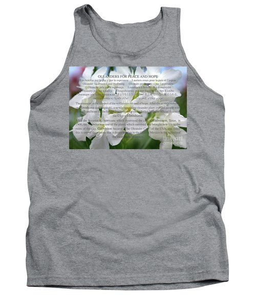 Oleanders For Peace And Hope Tank Top