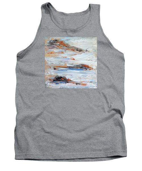 Tank Top featuring the painting On Da Rocks by Fred Wilson