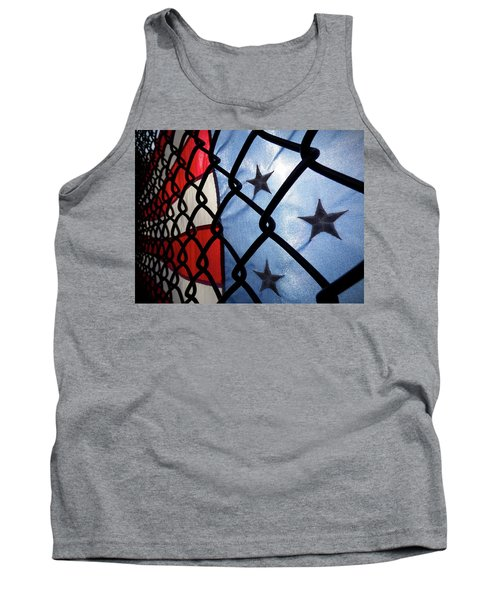 Tank Top featuring the photograph On The Fence by Robert Geary
