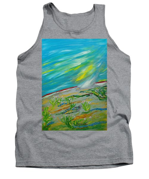On The Planet. The Fall Of A Meteorite On The Planet Tank Top