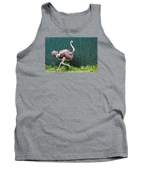 Tank Top featuring the photograph On The Run by Debra     Vatalaro
