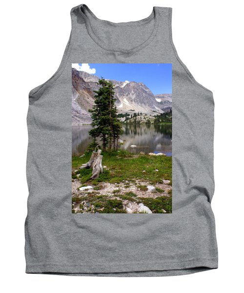 On The Snowy Mountain Loop Tank Top by Marty Koch