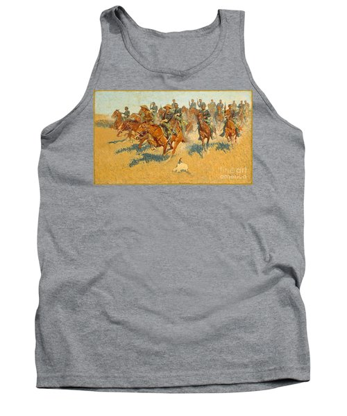 Tank Top featuring the photograph On The Southern Plains Frederic Remington by John Stephens
