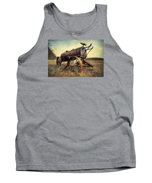 Tank Top featuring the photograph On The Water Wagon - Agricultural Relic by Gary Heller