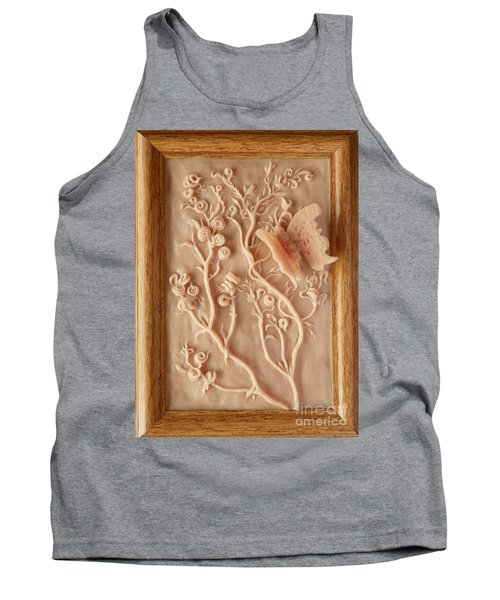 On The Way To Bronze - Alfalfa And Anglewing Tank Top by Dawn Senior-Trask