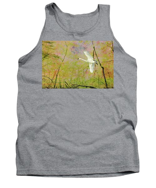 Tank Top featuring the photograph On The Wing by Belinda Greb