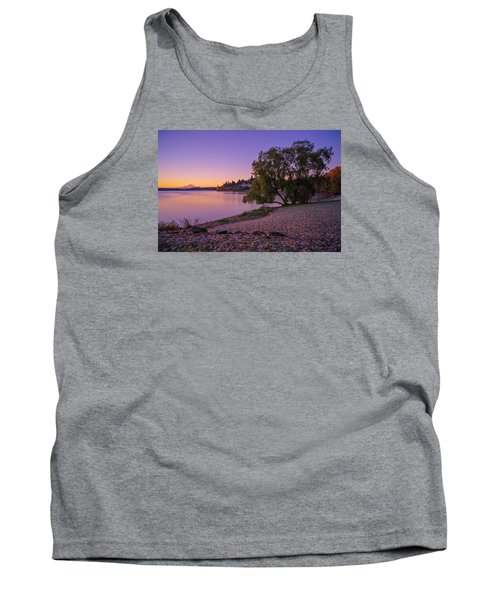One Morning At The Lake Tank Top by Ken Stanback