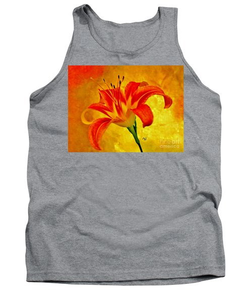 Tank Top featuring the photograph One Tigerlily by Marsha Heiken