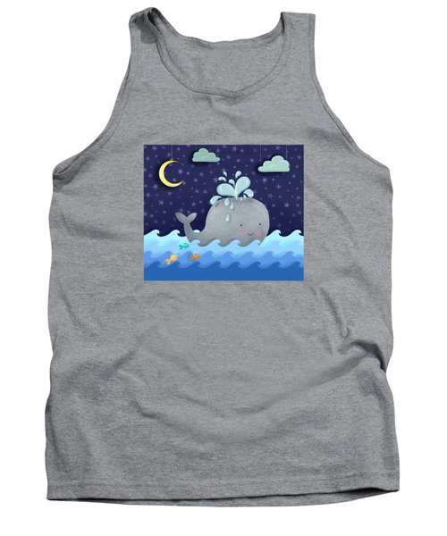 One Wonderful Whale With Fabulous Fishy Friends Tank Top