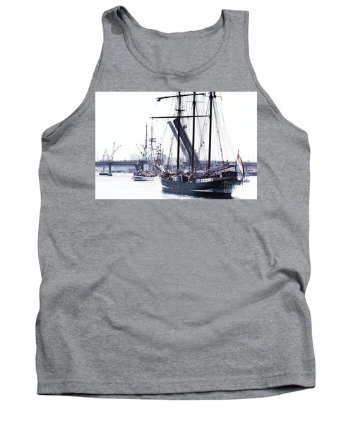 Tank Top featuring the photograph Oosterschelde Leaving Port by Stephen Mitchell