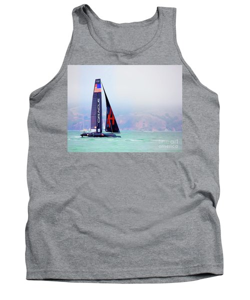 Oracles Usa  America's Cup Paint  Tank Top