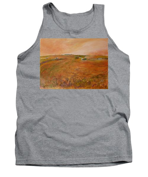 Orange Afternoon  Tank Top by Helen Campbell