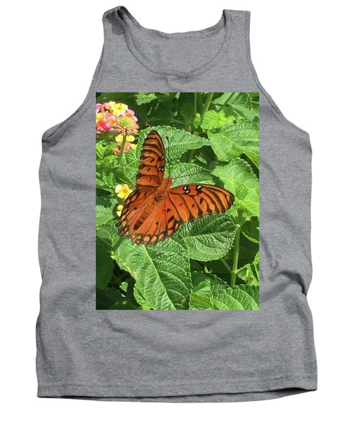 Orange Butterfly   Tank Top