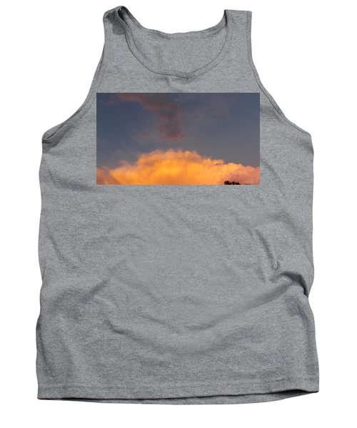 Orange Cloud With Grey Puffs Tank Top by Don Koester