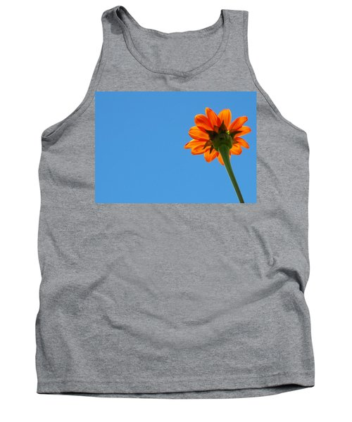 Tank Top featuring the photograph Orange Flower On Blue Sky by Debbie Karnes