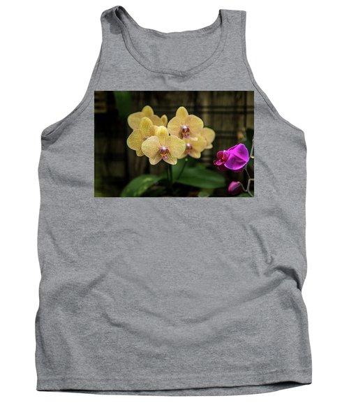 Orange Orchids Tank Top