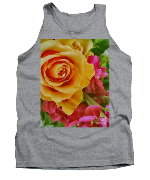 Orange Rose Tank Top