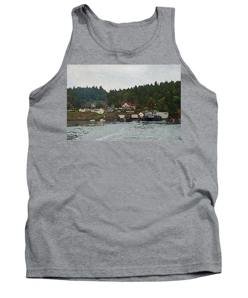 Orcas Island Dock Digital Tank Top