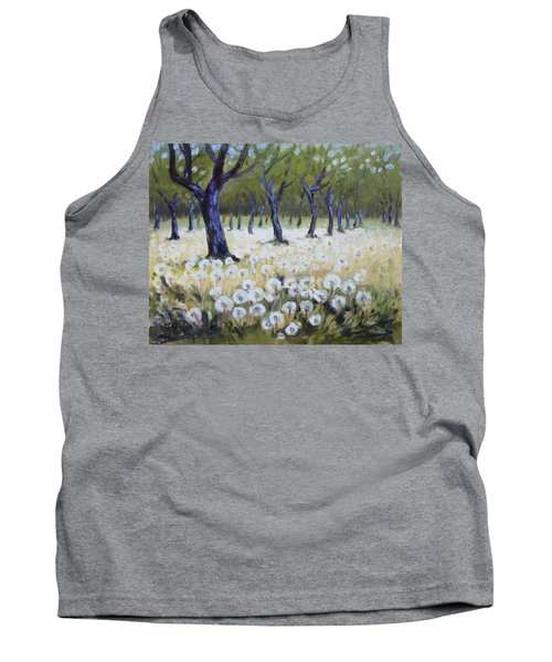 Orchard With Dandelions Tank Top