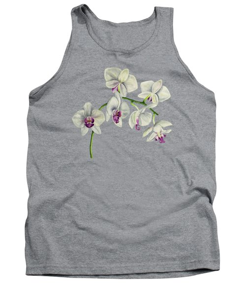 Orchid Watercolor Painting Tank Top