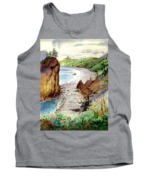 Tank Top featuring the painting Oregon Coast #3 by John Norman Stewart