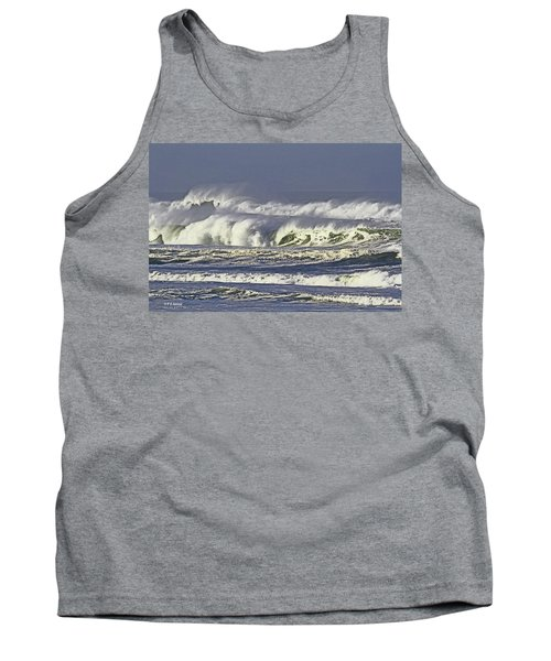 Oregon Coast Waves On A Windy Morning Tank Top