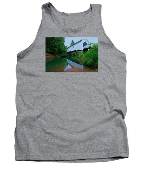 Oregon Covered Bridge Tank Top by Sean Sarsfield