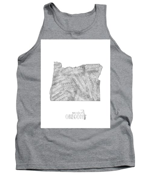Oregon Map Music Notes Tank Top