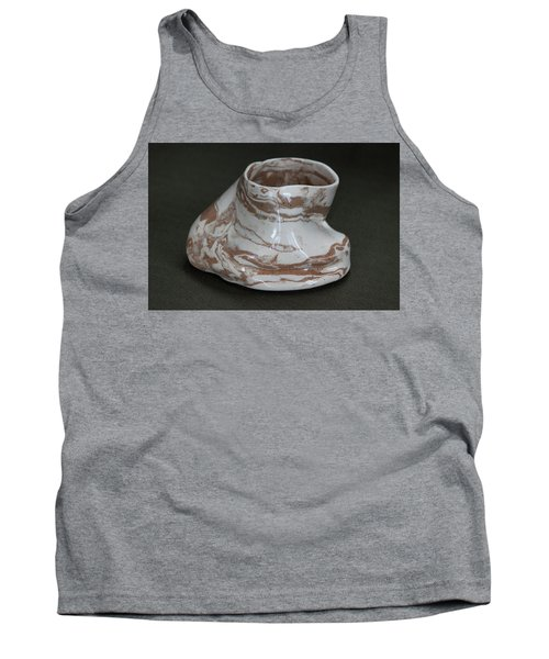 Organic Marbled Clay Ceramic Vessel Tank Top by Suzanne Gaff