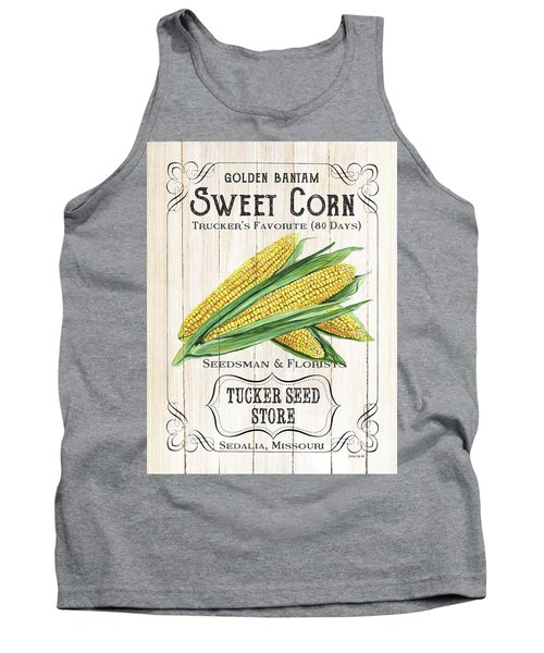 Tank Top featuring the painting Organic Seed Packet 4 by Debbie DeWitt